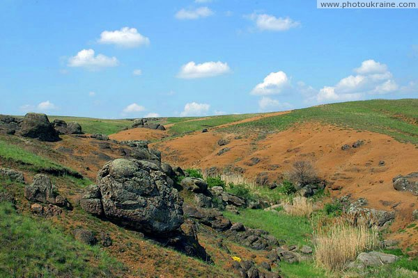 Starolaspa. Steppe granite ravine Donetsk Region Ukraine photos