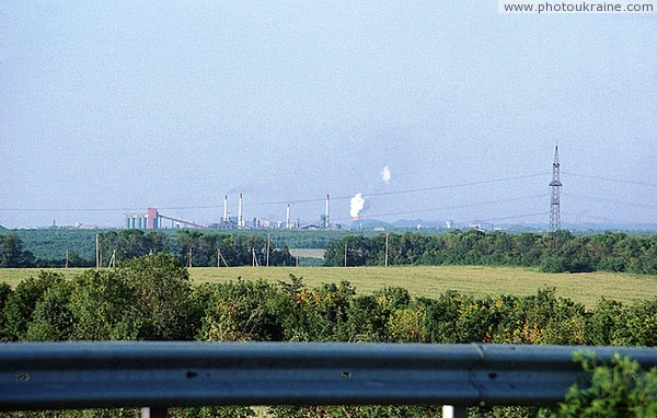 View from road Donetsk – Kurakhove. Pipes Donbas Donetsk Region Ukraine photos