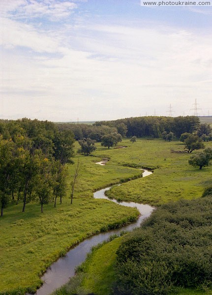 Meander river Small Kalchyk Donetsk Region Ukraine photos