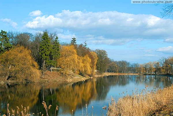 Andrushivka. Tereschenko park and pond Zhytomyr Region Ukraine photos
