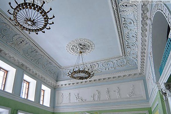 Verkhivnia. Vaults of palace ballroom Ghanskikh Zhytomyr Region Ukraine photos