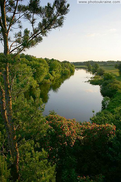 Vysokyi Kamin. View of river from rock grouse Zhytomyr Region Ukraine photos