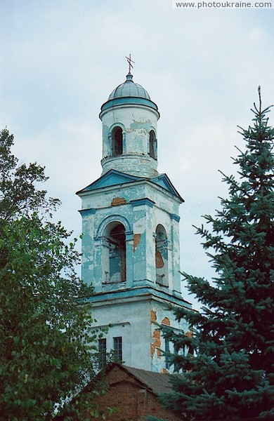 Kodnia. Green frame church bell Zhytomyr Region Ukraine photos