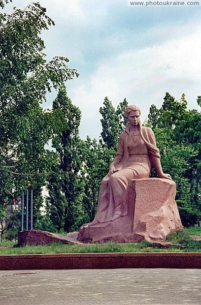 Novograd-Volynskyi. Monument to Lesia Ukrainka Zhytomyr Region Ukraine photos