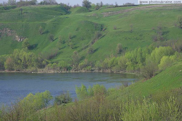 Novograd-Volynskyi. Bend in river Sluch Zhytomyr Region Ukraine photos