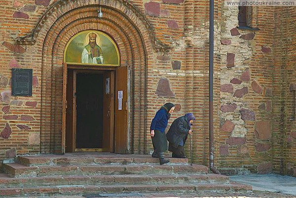 Ovruch. Loyal parishioners Vasyl Church Zhytomyr Region Ukraine photos