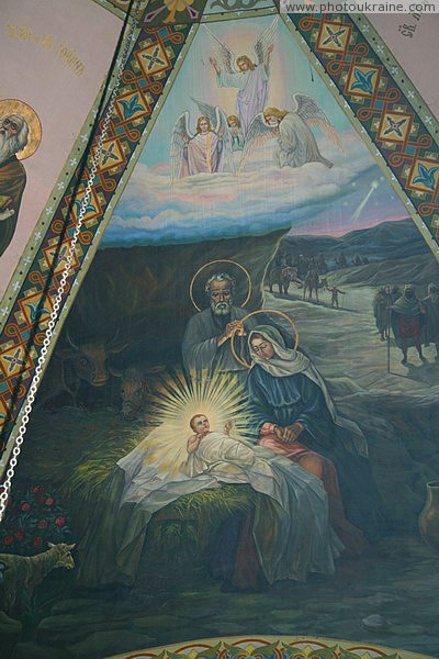 Radomyshl. Fragment of painting Nicholas church Zhytomyr Region Ukraine photos