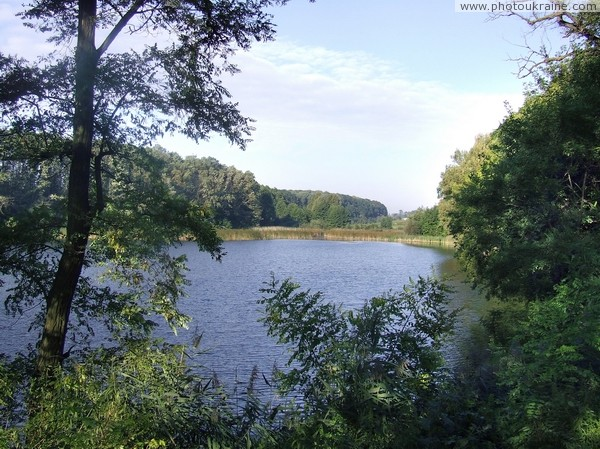 Turchynivka. Picturesque pond estates Zhytomyr Region Ukraine photos
