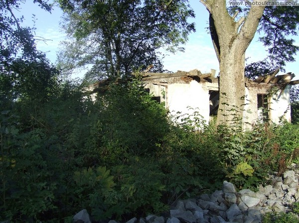 Tiutiunyky. Ruins – all that remained of estate Zhytomyr Region Ukraine photos