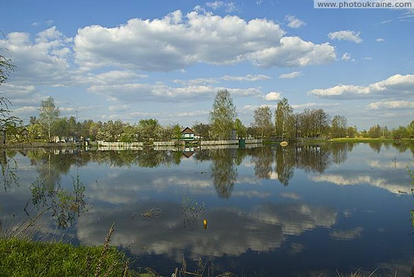 Spring tide on river Ubort Zhytomyr Region Ukraine photos