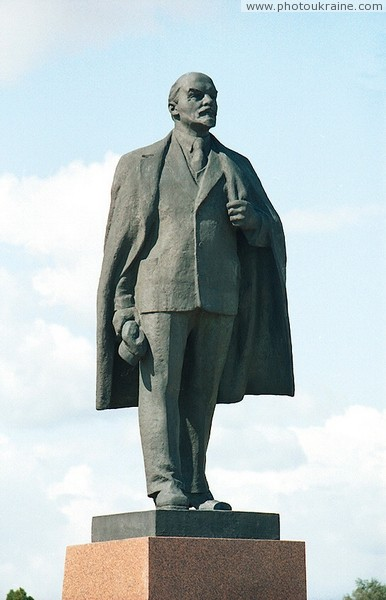 Cherniakhiv. Monument to V. Lenin Zhytomyr Region Ukraine photos
