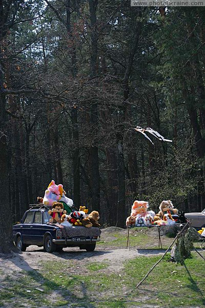 Suburban store with soft toy Zhytomyr Region Ukraine photos