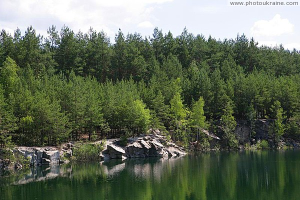 Quarry lake Zhytomyr Region Ukraine photos