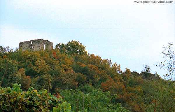 Vynogradiv. Ruins of castle Kanko Zakarpattia Region Ukraine photos