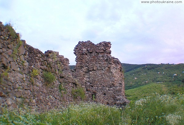 Vynogradiv. Ruins of castle Vynogradiv Zakarpattia Region Ukraine photos