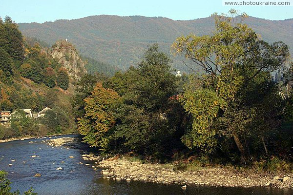 Kostylivka. Tisa downstream Lovers Rock Zakarpattia Region Ukraine photos