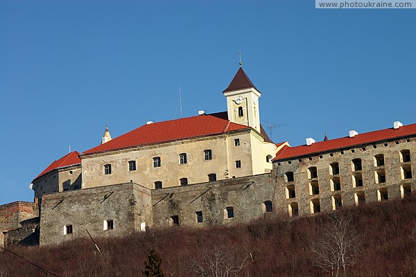 Mukacheve. Powerful fortifications of castle Palanok Zakarpattia Region Ukraine photos