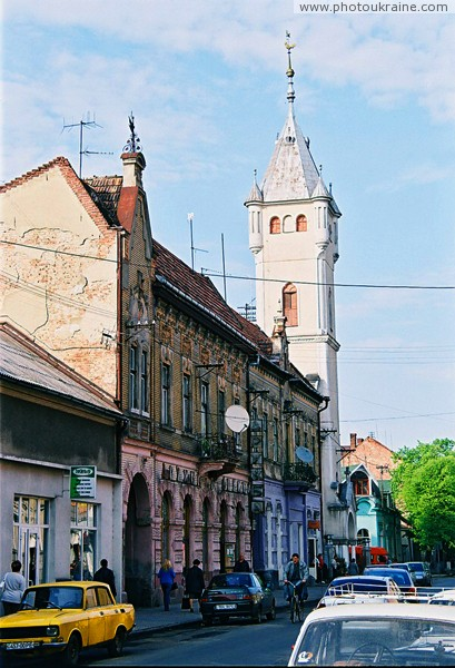 Mukacheve. Street of Duhnovich Zakarpattia Region Ukraine photos