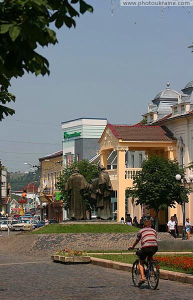 Mukacheve. In main square of Peace Zakarpattia Region Ukraine photos