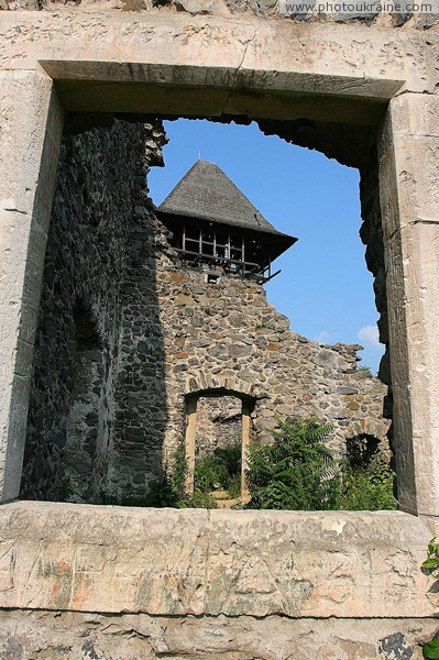 Nevytske. Among ruins of castle Nevytske Zakarpattia Region Ukraine photos