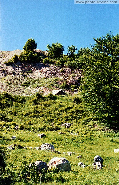 Novoselytsia. Dumps of local stone quarry Zakarpattia Region Ukraine photos