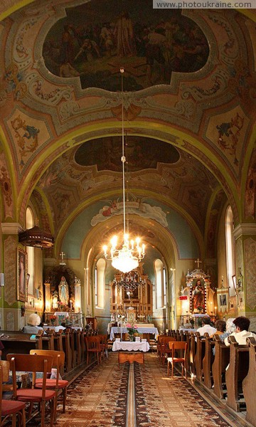 Perechyn. Under arches of church of St. Augustine Zakarpattia Region Ukraine photos