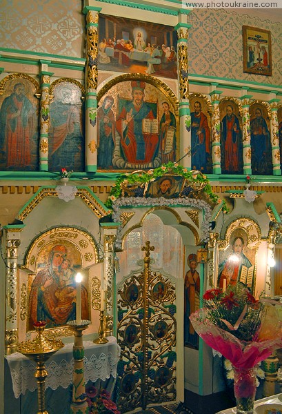 Svaliava. Iconostasis of St. Michael's Church Zakarpattia Region Ukraine photos