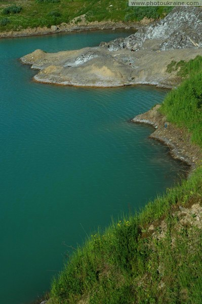 Solotvyno. Last hydrochloric outlier on shore Zakarpattia Region Ukraine photos