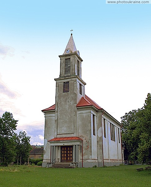 Solotvyno. Front facade of church of St. Stephen's Zakarpattia Region Ukraine photos