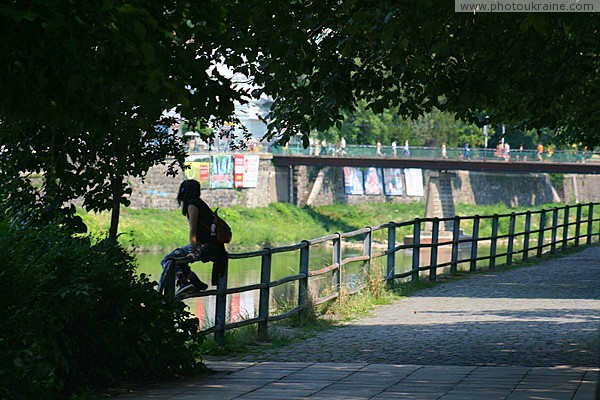 Uzhgorod. At Kyiv waterfront Zakarpattia Region Ukraine photos