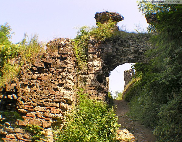 Hust. Ruins of castle Hust Zakarpattia Region Ukraine photos