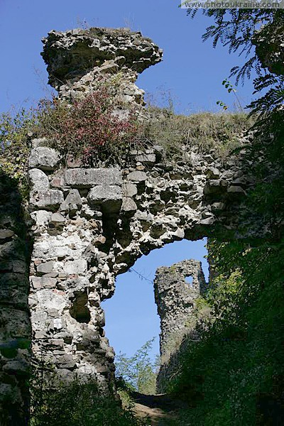 Hust. Remains of buildings Hust Castle Zakarpattia Region Ukraine photos