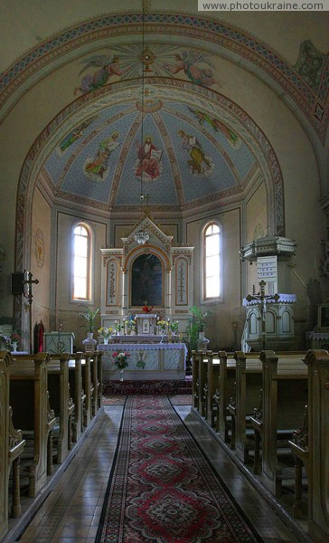 Chop. Interior of church of St. Anna Zakarpattia Region Ukraine photos