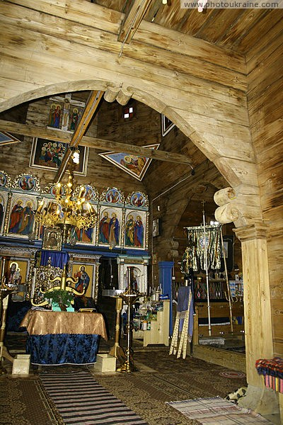 Yasinia. Interior Strukivska Church Zakarpattia Region Ukraine photos