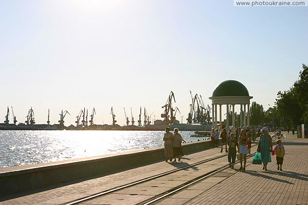 Berdiansk. City embankment Zaporizhzhia Region Ukraine photos