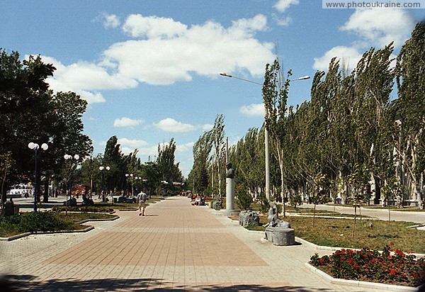 Berdiansk. Seaside boulevard Gorky Zaporizhzhia Region Ukraine photos