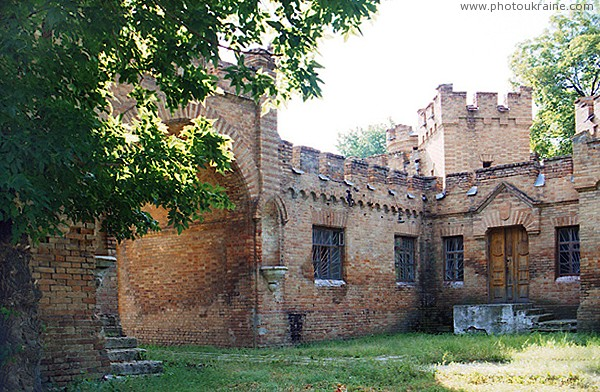 Vasylivka. Inner facade of East wing Zaporizhzhia Region Ukraine photos