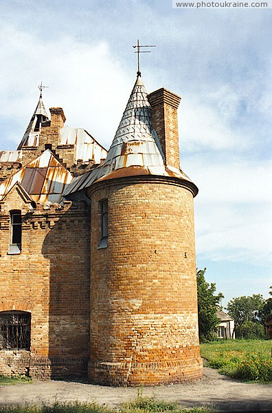 Vasylivka. Round tower house hunting estates Zaporizhzhia Region Ukraine photos
