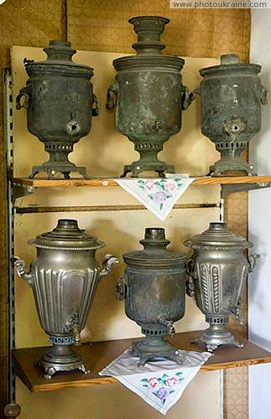 Vasylivka. Samovar collection at museum-reserve Zaporizhzhia Region Ukraine photos