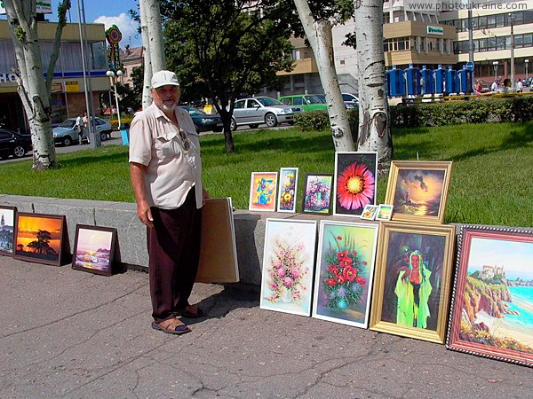 Zaporizhzhia. Artist and his work Zaporizhzhia Region Ukraine photos