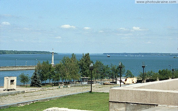 Zaporizhzhia. Dnieper reservoir and lighthouse Zaporizhzhia Region Ukraine photos