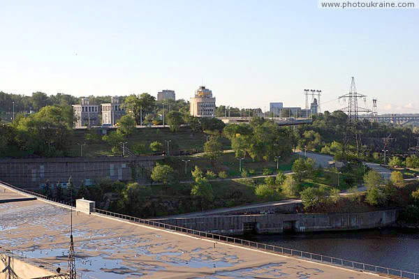Zaporizhzhia. From roof of turbine hall №2 Dniproges Zaporizhzhia Region Ukraine photos