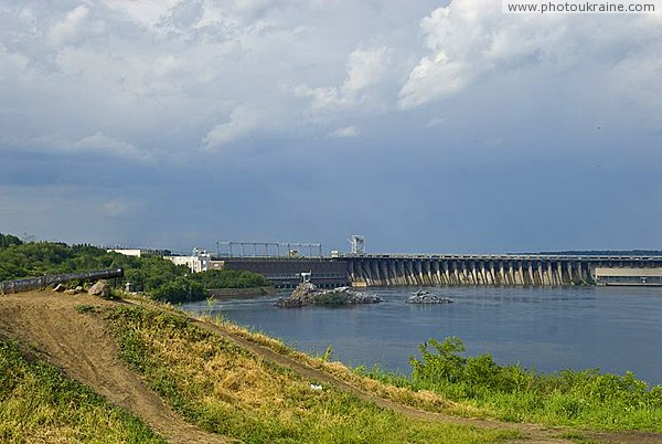 Zaporizhzhia. Gun on shaft of Cossack fortress Zaporizhzhia Region Ukraine photos