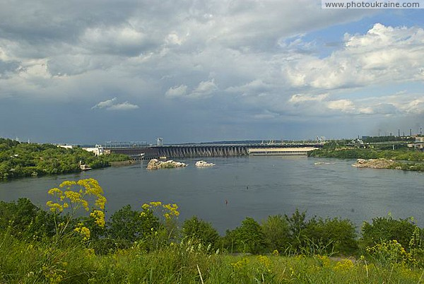 Zaporizhzhia. Islands and rocks near dam Dnieper Zaporizhzhia Region Ukraine photos