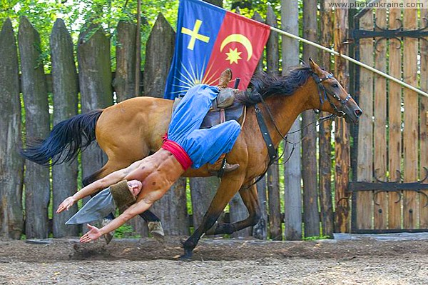 Zaporizhzhia. Horse theatre – Cossack fancy riding Zaporizhzhia Region Ukraine photos