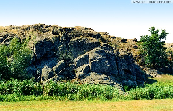 Kalaytanivka. Oldest granite above river Berda Zaporizhzhia Region Ukraine photos
