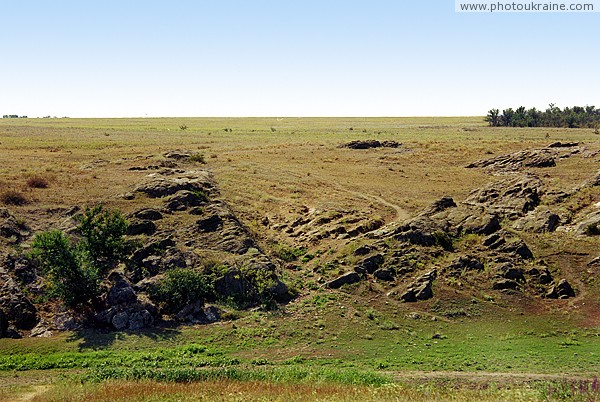 Kalaytanivka. Granite outcrop above river Berda Zaporizhzhia Region Ukraine photos