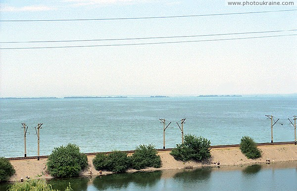 Kamianske. Dam and island of Great Kuchugury Zaporizhzhia Region Ukraine photos
