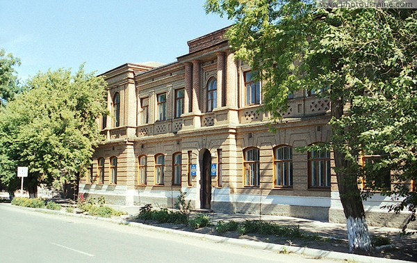 Prymorsk. Building of Ukrainian-Bulgarian lyceum Zaporizhzhia Region Ukraine photos