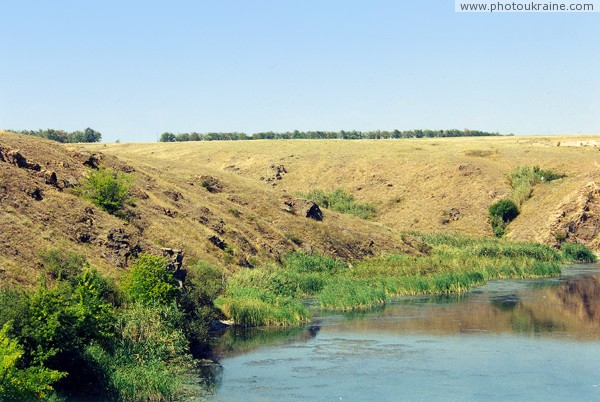 Radyvonivka. Rocky right slope of valley Berda Zaporizhzhia Region Ukraine photos